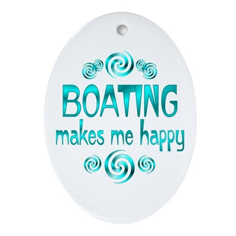 Boating Oval Ornament