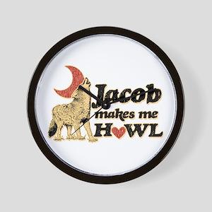 Jacob Makes Me Howl Wall Clock