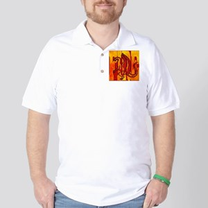 Chinese Fire Dragon Golf Shirt