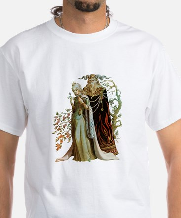 Beauty and the Beast White T-Shirt