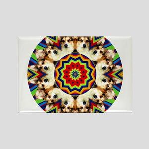 Colorful Kip Rectangle Magnet