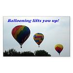 Hot Air Balloon Rectangle Sticker 50 pk)