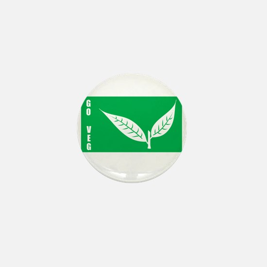 Go Veg Leaves Mini Button