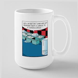 Ice Cube Window Office Large Mug