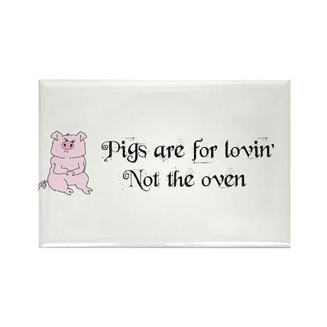 PIGGYS ARE FOR LOVIN Rectangle Magnet (10 pack)