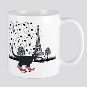 Tuxedo cat in Paris Mug