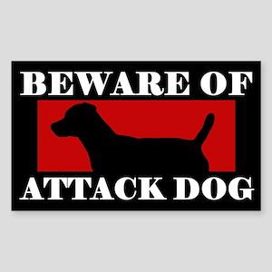Beware of Attack Dog Patterdale Terrier Sticker