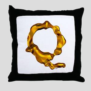 Blown Gold Q Throw Pillow