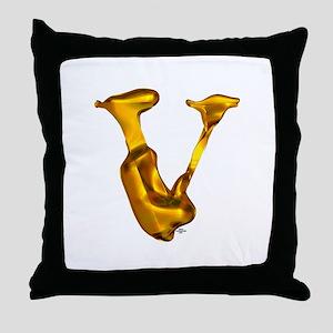 Blown Gold V Throw Pillow