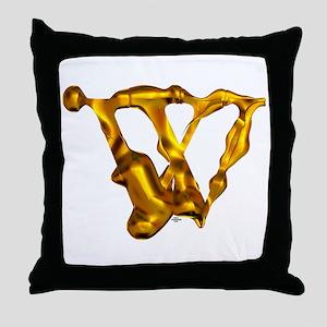 Blown Gold W Throw Pillow