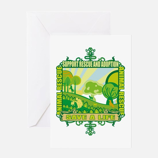 Animal Rescue Me Greeting Card