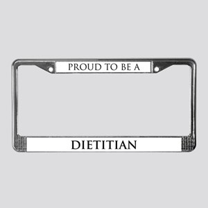 Proud Dietitian License Plate Frame