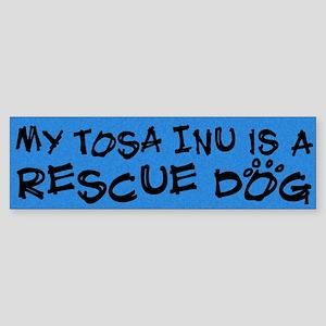 Rescue Dog Tosa Inu Bumper Sticker