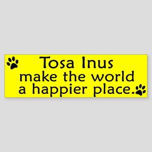 Happy Place Tosa Inu Bumper Sticker