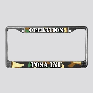 Operation Tosa Inu License Plate Frame