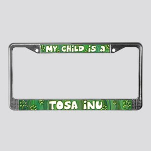 My Kid Tosa Inu License Plate Frame