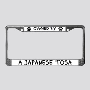Owned by a Japanese Tosa License Plate Frame