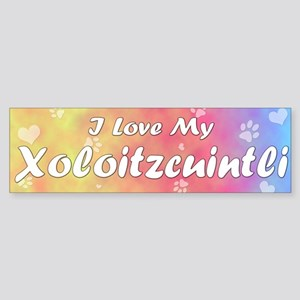 Pastel Love Xoloitzcuintli Bumper Sticker