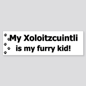 Xoloitzcuintli Furry Kid Bumper Sticker
