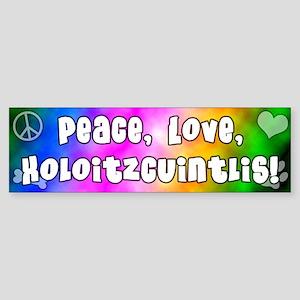 Hippie Xoloitzcuintli Bumper Sticker