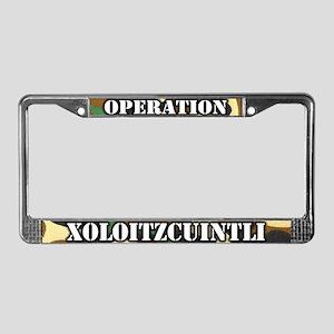 Operation Xoloitzcuintli License Plate Frame