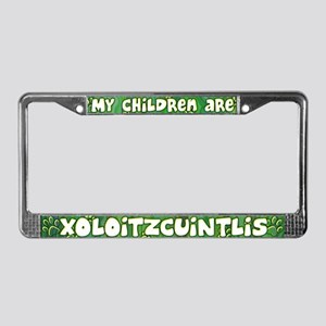 My Children Xoloitzcuintlis License Plate Frame