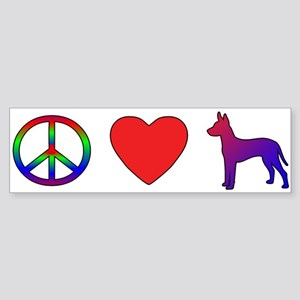 Peace Love Xoloitzcuintli Bumper Sticker