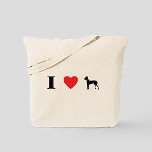 I Heart Xoloitzcuintli Tote Bag