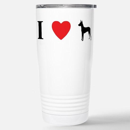 I Heart Xoloitzcuintli Stainless Steel Travel Mug