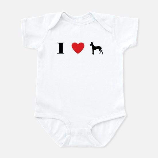 I Heart Xoloitzcuintli Infant Bodysuit