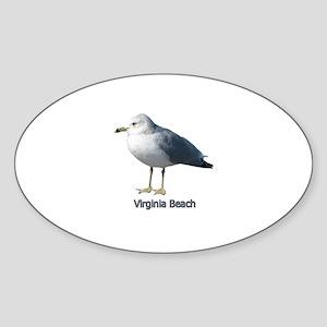 Virginia Beach Gull Oval Sticker