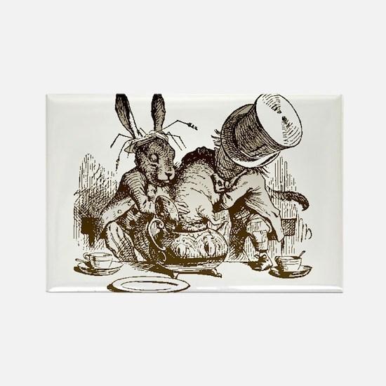 White Rabbit, Mad Hatter Rectangle Magnet