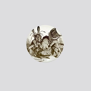White Rabbit, Mad Hatter Mini Button