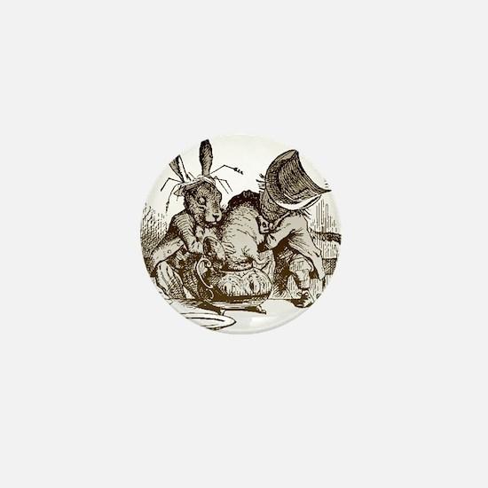 White Rabbit, Mad Hatter Mini Button