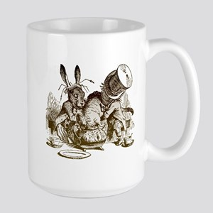 White Rabbit, Mad Hatter Large Mug