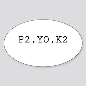 P2,YO,K2 (Knitting) Oval Sticker