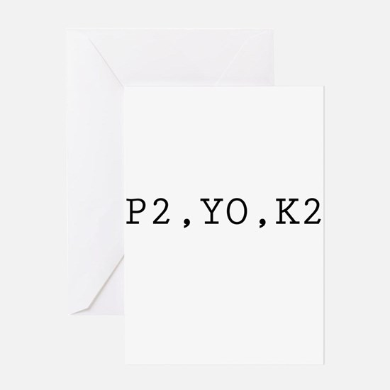P2,YO,K2 (Knitting) Greeting Card