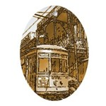 New Orleans Streetcar Named D Oval Ornament