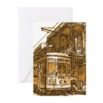 New Orleans Streetcar Named D Greeting Cards (Pk o
