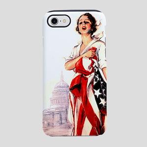 flag-nurse2 iPhone 7 Tough Case