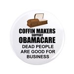 """NOBamaCare - Anti Obama Healt 3.5"""" Button"""