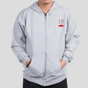 Team Poland - #18 Zip Hoodie