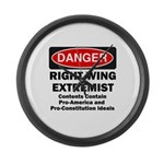 Danger Right Wing Extremist Large Wall Clock