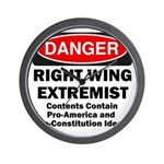 Danger Right Wing Extremist Wall Clock