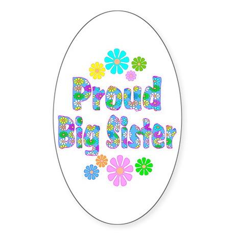Big Sister Oval Sticker