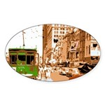 New Orleans Streetcar Named D Oval Sticker