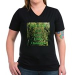 Get ECO Green Women's V-Neck Dark T-Shirt