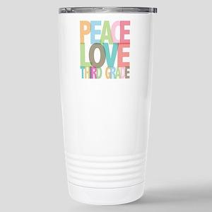 Peace Love Third Grade Stainless Steel Travel Mug