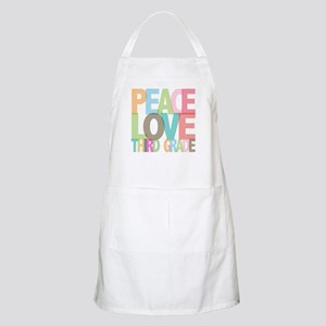 Peace Love Third Grade BBQ Apron