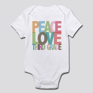 Peace Love Third Grade Infant Bodysuit